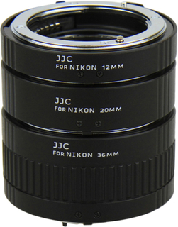 JJC Mellanringar 12mm,20mm & 36mm elektronisk för Nikon