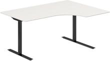 Höj- och sänkbart skrivbord DNA vit 1600x1200mm höger 2 ben/svart