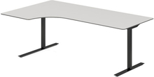 Höj- och sänkbart skrivbord DNA ljusgrå 2000x1200mm vänster 2 ben/svart