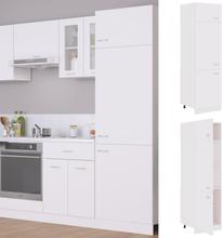 vidaXL Skap for kjøkkenskap hvit 60x57x207 cm sponplate