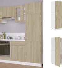 vidaXL Skap for kjøkkenskap sonoma eik 60x57x207 cm sponplate