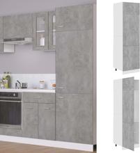 vidaXL Skap for kjøkkenskap betonggrå 60x57x207 cm sponplate