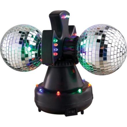 Redshow BAL-10 dobbel discokule med LED-lys