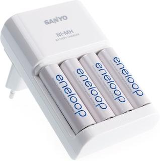 Sanyo MQR06-E-4-3UTG lynlader inkl. 4 stk. AA-batterier