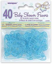 Blå baby säkerhetsnålar - 40 st