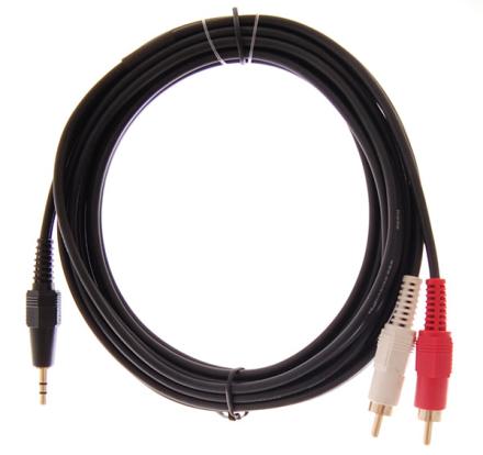 HiEnd 2 x phono-til-minijack(stereo)-kabel 3meter