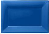 Kungsblå serveringsfat i plast - 3 st