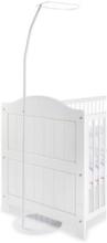 Himmelstativ till vagga, bedside crib och babysäng, Metall/vitlackerad -