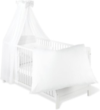 Textilset till Babysäng 4 delar, Voile/Vit - Beds & Acessories