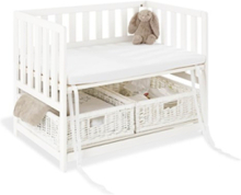 Bedside Crib med Madrass, Janne/Vit - Beds & Acessories
