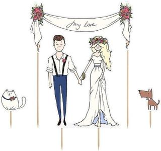 Tårtdekoration till bröllopet - My love