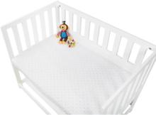 dra-på-lakan till Vagga, Bedside Crib och barnvagn 2 st, Jersey/Ljusblå stjärnor -