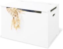 förvaringsbänk, Vitlackerad - Furniture & Storage