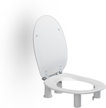 Pressalit Care Dania toalettsete, 10 cm fohøyet, hvit