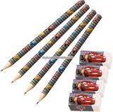 Disney bilar neon - pennor & suddgummin - 4 s