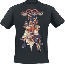Kingdom Hearts - 2 - Group -T-skjorte - svart
