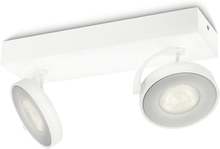 Philips myLiving LED-spotlight Clockwork 2x4,5 W vit 531723116