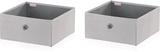 Leifheit Förvaringslådor 2 st grå 27,5x28x13 cm 80