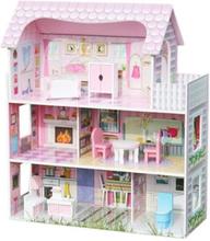Woodi World Toy - Dockskåp Hildur Med Möbler