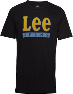 Lee Jeans Logo Tee T-shirt Sort Lee Jeans