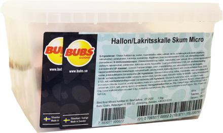 Hel Låda Hallon- & Lakritsskalle Skum Micro 1,5kg - 40% rabatt