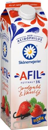 A-Fil Jordgubb & Vanilj 3%