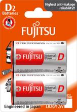 Fujitsu Univeral Power D Alkaline Batterier - 2 stk.