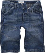 Produkt - Long Blue Denim Shorts -Shorts - mørkeblå