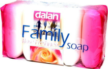 Dalan family soap Rose 5x75 g - Tvål 5 pack