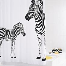 RIDDER Duschdraperi Zebra 180x200 cm