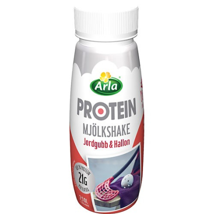 Protein Mjölkshake Jordgubb/Hallon
