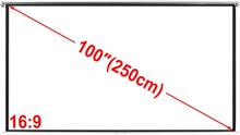 Projektionsskærm 200x153cm 4: 3 tag / væg