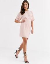 ASOS DESIGN wiggle miniklänning-Rosa