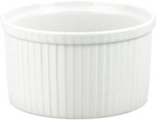 Suffléform hög extra vit - 18,5 cm, Dia18,5cm H9,7cm