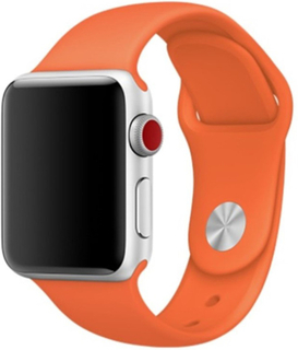 Apple Watch Series 4 40mm flexible silicone watch band - Orange