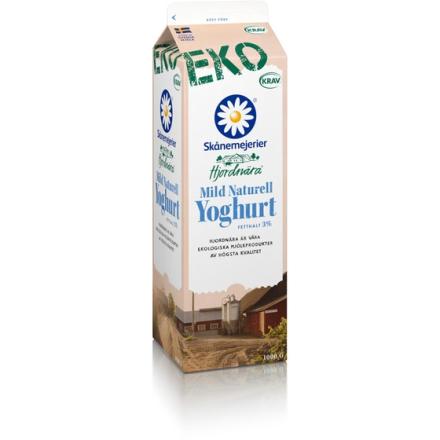 Hjordnära Ekologisk Mild Naturell Yoghurt 3%