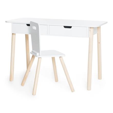 JOXSkrivbord med Stol Vit