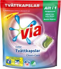 Tvättkapslar Color Clean + Care
