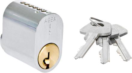 Oval enkelcylinder ASSA 1301 utan kopieringsskydd - Nickel