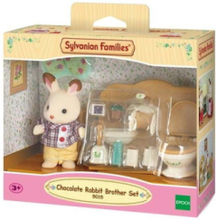 Chocolate Rabbit Brother Set -Washroom