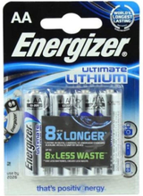 Energizer Ultimate AA Lithium Batterier - 4 stk.