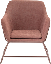 Bloomingville Bass Loungestol Rosa Polyester