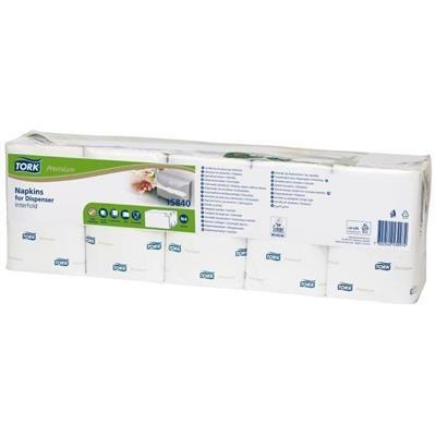 Dispenserserviet, Tork Expressnap N4 Premium, 2-lags, 2-fold, 21,3x33cm, hvid, 100% nyfiber