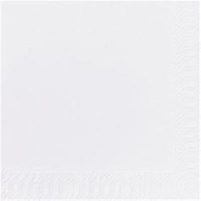 Frokostserviet, Duni, 3-lags, 1/4 fold, 33x33cm, hvid, papir