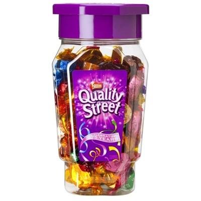 Chokolade, Nestlé Quality Street, cylinder med skruelåg *Denne vare tages ikke retur*