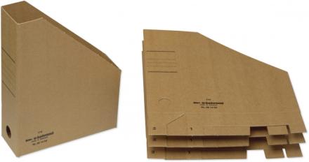 Tidsskriftskassette karton A4 brun rygbrd. 7,5cm