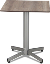 Classic cafébord Silver med laminatskiva 60x60 cm