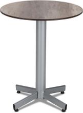 Classic cafébord Silver med laminatskiva 60 cm
