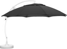 Easy sun parasoll Vit/antracit Frihängande 3,75 m