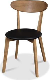 Tundra stol - Oljad ek / Svart PU